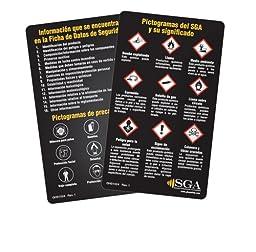 GHS Safety GHS1024 GHS Wallet Cards, Spanish (Pack of 50)