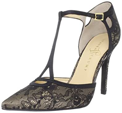 Ivanka Trump Women's Ginger2 T-Strap Pump,Black Multi,5 M US