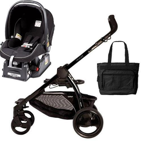 Peg Perego Book Chassis In Black With Nero Black Car Seat Diaper Bag front-972180