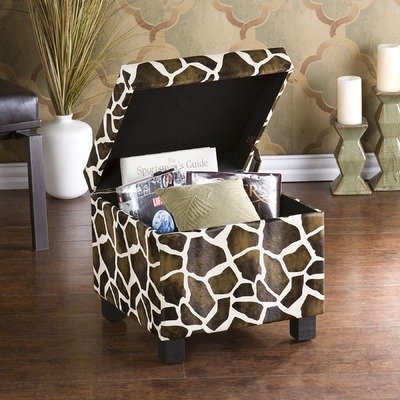 Wilson Giraffe Faux Leather Storage Ottoman