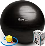LuxFit Anti Burst Exercise Ball - Black