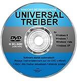 Universal Treiber DVD für Windows 8 / 7 / Vista / XP (32 & 64 Bit)