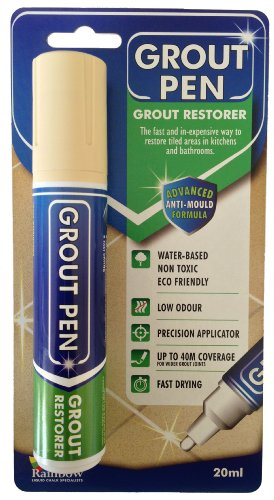 Grout Pen Large Beige - Ideal to Restore the Look of Tile Grout Lines (Grout Paint Pen compare prices)