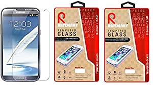 Raydenhy Pack of 2 (2 PCS) 2.5D Curved Edges 0.33MM Thickness Tempered Glass For Samsung Galaxy Note 2 (N7100)
