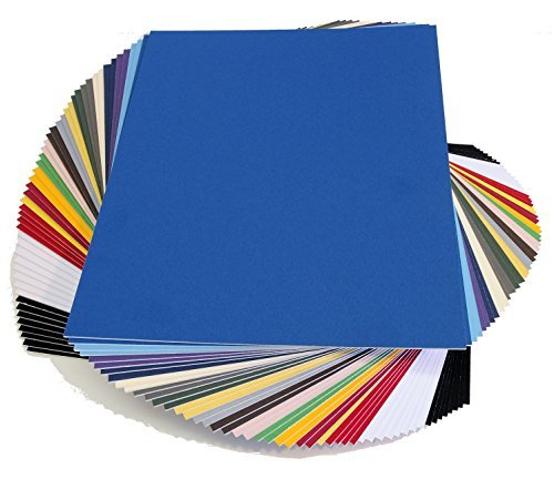 topseller100-Pack-of-50-sheets-11x14-UNCUT-mat-matboard-MIX-Color-by-topseller100