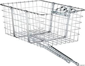 Wald 157 Front Giant Delivery Bicycle Basket (21 x 15 x 9, Silver)