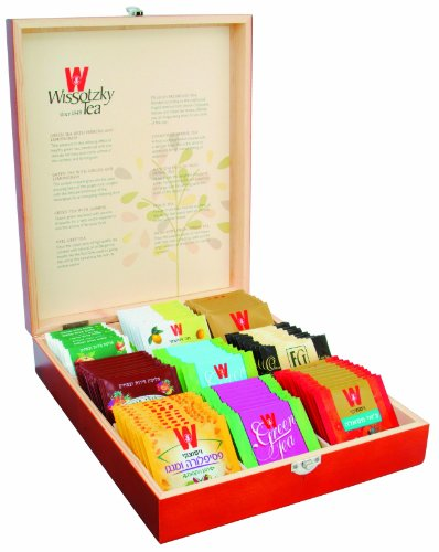WISSOTZKY Mahogany Tea Chest (9 Flavors), 5.43-Ounce
