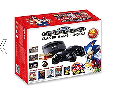Sega Mega Drive Classic Game Console with 80 Games (Electronic Games)