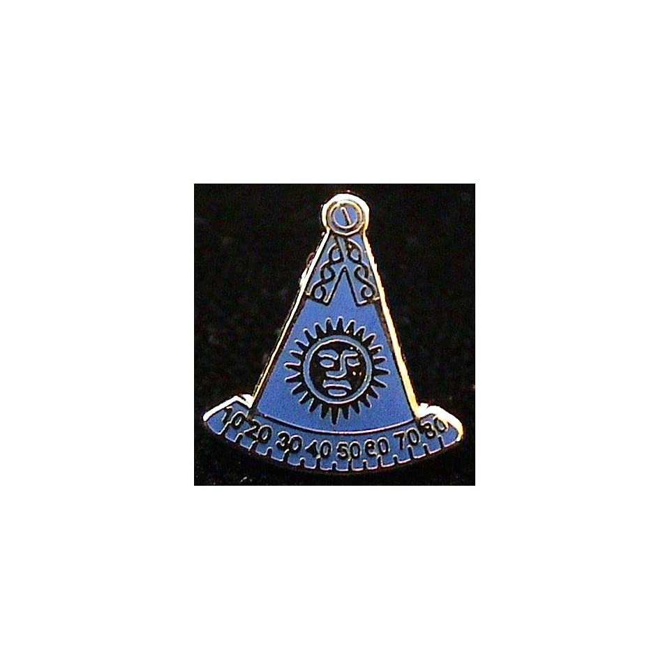 Past Master Masonic Freemason F&AM No Square Lapel Pin