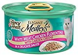Fancy Feast Gourmet Cat Food, Chicken Florentine in Sauce with Garden Greens, 3-Ounce Cans (Pack of 24)