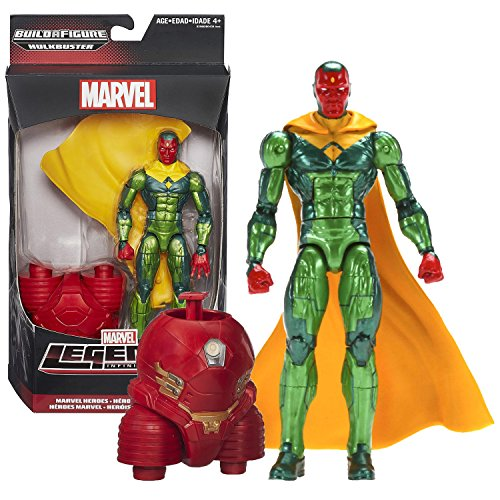 """Hasbro Year 2015 Marvel Legends Infinite Series Build a Figure """"HULKBUSTER"""" Series 6-1/2 Inch Tall Action Figure - Marvel Heroes VISION with Removable Cape and Hulkbuster's Lower Abdomen"""