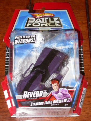 Picture of Mattel Hot Wheels Battle Force 5 Reverb Vehicle Stanford Isaac IV Driver Figure (B002MRGEJK) (Mattel Action Figures)