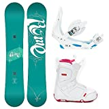 Rome Vinyl Ladies Complete Snowboard Package 2014 by Rome
