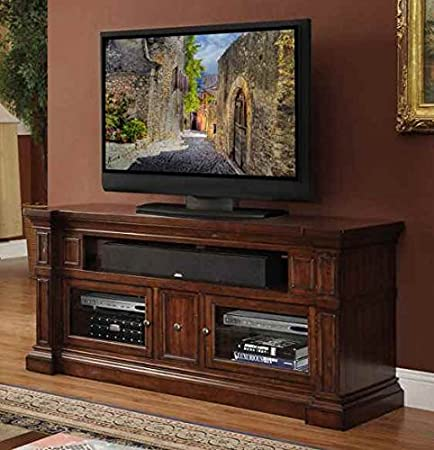 62 in. TV Cabinet in Old World Umber Finish