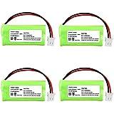 INSTEN® 4 Cordless Home Phone Battery Pack Compatible with VTech BT166342 BT266342 BT183342 BT283342