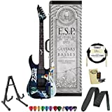 ESP LTD-KHWZ-WZ-KIT-1 Kirk Hammett Signature Black with White Zombie Graphic Electric Guitar with Accessories and ESP Tombstone Hard Case