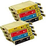 8 CiberDirect Compatible Ink Cartridge Replacements for Epson T0615 (T0611-4 multipack).