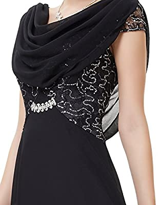 Ever Pretty Elegant Cowl Neck Sequin Evening Dress 09989