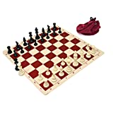 Wholesale Chess Triple Weighted Staunton Silicone Set - Red