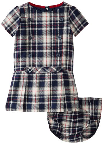 Nautica Baby-Girls Infant Plaid Jumper Dress, Naval Blue, 24 Months front-1062538