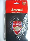 Official Arsenal FC Leather Look Embroidered Money Wallet