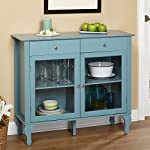 Simple Living Layla Antique Blue Buffet Cabinets