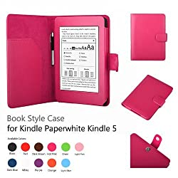 Elsse Premium Case For Amazon Kindle Paperwhite and All-New Kindle Paperwhite (Styli NOT included) (Support Smart Cover Function) (Paperwhite, Hot Pink)