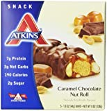 Caramel Chocolate Nut Roll, 5 Bars, 1.6 oz (44 g) Each
