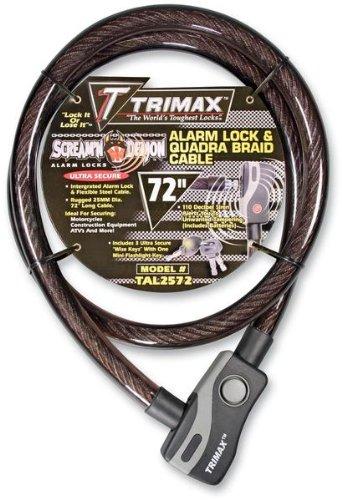 Trimax TAL2572 6' x 25 mm Alarm Lock and Quadra-Braid Cable