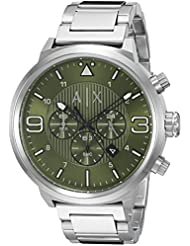 Armani Exchange Men's AX1370 Analog Display Analog Quartz Silver Watch
