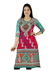 D2Nine Women's Cotton Round Neck Kurti - B0110HTEEO