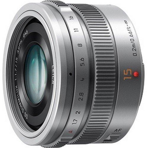 Panasonic マイクロフォーサーズ用 交換レンズ LUMIX G LEICA DG SUMMILUX 15mm /F1.7 ASPH. シルバー H-X015-S