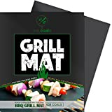 BBQ Grill & Baking Mats   100% Non-stick   Works on Any BBQ Grill or As Pan Liner   Dishwasher Safe   Lifetime Guarantee with No-hassle Refund If You Are Not 100% Satisfied!