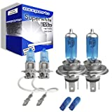 55w Super White Xenon High (main) / Low (dipped) / Fog / Side beam upgrade HeadLight Bulbs ROVER 400 Turbo 04.90->04.95