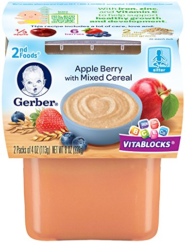 Gerber Second Foods Mixed Cereal, Apple Berry, 7 Ounce (Pack of 8) - 1