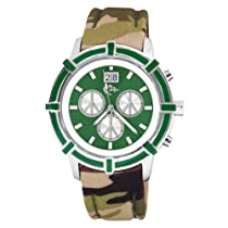 Love Peace and Hope Midsize LPE05 Time for Peace Green Camouflage Watch