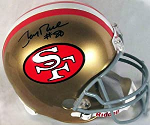 Jerry Rice Autographed Replica SF 49ers Helmet (COA) by Sports Gallery Authenticated