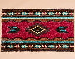 Southwestern Door Mat -Zuni Pattern