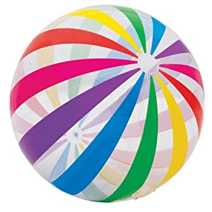 INTEX Jumbo Inflatable Glossy Big Panel Colorful Giant Beach Ball | 59065EP