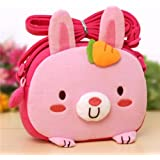 Big Mango Super Cute 3D Rabbit Design Children Cartoon Messenger Bag Kids Shoulder Bag Crossbody Handbag - Pink