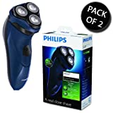2x Philips PT715/17 3 Head Lift Power Touch Mains Operated Electric Shaver
