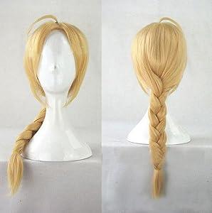 Topbill Anime Full Metal Alchemist Light Golden Cosplay Wigs