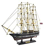 Wood Crafted Cutty Sark 1869 Clipper Sail Boat Ship Model Replica Collectible, 14-inch, Nautical Decor
