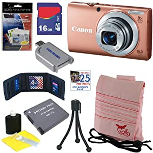 Canon PowerShot A4000 IS 16MP Digital Camera w/ 8x Optical Zoom & 3