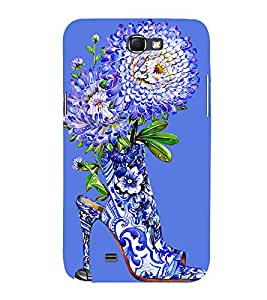 Printvisa Floral Shoe Design Showing The Beauty Of Nature 3D Hard Polycarbonate Designer Back Case Cover For Samsung Galaxy Note 2 :: Samsung Galaxy Note 2 N7100