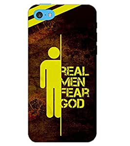 PrintDhaba QUOTE D-6208 Back Case Cover for APPLE IPHONE 5C (Multi-Coloured)