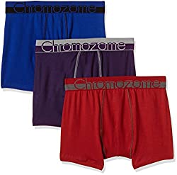 Chromozome Men's Cotton Boxer (Pack of 3) (8902733350143_WS 03_Large_World Blue, Red and Plum)