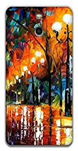 The Racoon Grip Light Beauty hard plastic printed back case / cover for HTC One (E8)