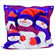 Indiana Hoosiers 3 Snowman Pillow 18""