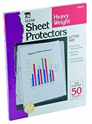 Charles Leonard Inc. Sheet Protectors, Heavy Weight, Clear, 50 per Box (48345) by Charles Leonard